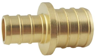 "PEX, 3/4"" Barb x 1/2"" Barb, Reducing Coupling, Brass"