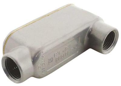"""EMT Conduit, 1/2"""", LB Body, Rigid, Aluminum"""