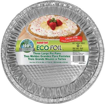 """Pie Pan, Aluminum, 9"""" Dia, 3 Pack"""