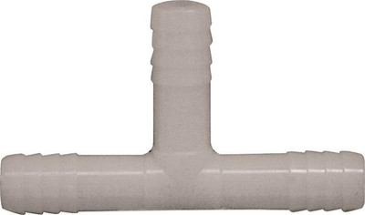 "Barbed Tube Fittings, 1/2"", Tee, Nylon"