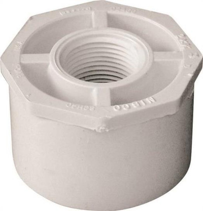 "SCH 40, Slip x Threaded Bushing, 2"" x 3/4"""
