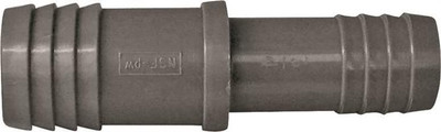 "Barbed Tube Fittings, 1"" x 3/4"", Coupling, Polypropylene"