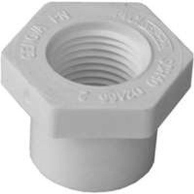 "SCH 40, Slip x Threaded Bushing, 3/4"" x 1/2"""