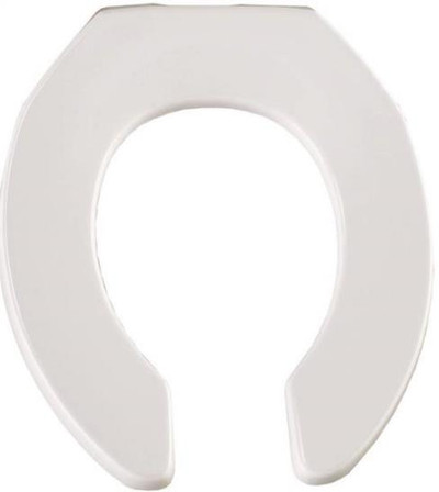 Toilet Seat,Round, White, Open Front, Plastic