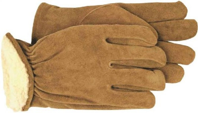 Gloves, Mens Leather Driver Glove, Lined, Large
