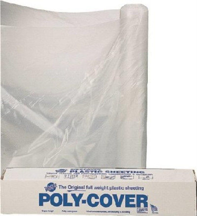 Plastic Sheeting, 6 Mil, 20' x 100', Clear, Plastic
