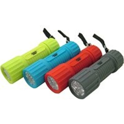 LED, Pocket Flashlight 6 LED (Uses 3 AAA Batteries)