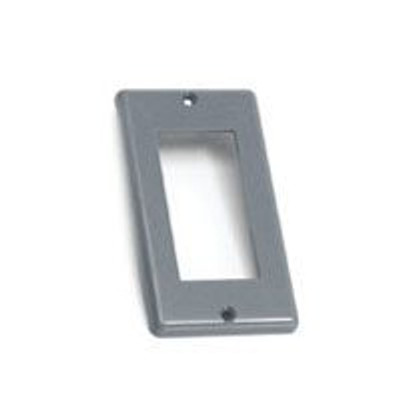 GFIC, Outlet Cover, Single Gang, Gray, Plastic