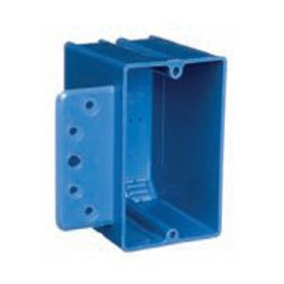 Single Gang Switch Box With Side Bracket, PVC
