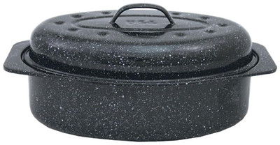 Graniteware,   7 Lb Oval Roaster With Cover
