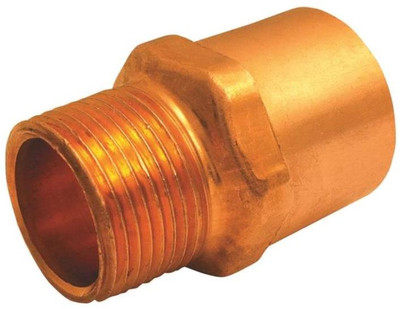 "Copper Fitting, 1/2"", CXM, Adapter x 3/4"" MPT"