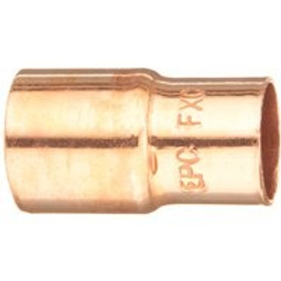 """Copper Fitting, 1-1/4"""", CXC, x  1"""" Fitting Reducer"""