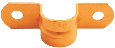 """Copper Fitting, 1/2"""", Copper Tube Strap, 2 Hole, 5 Pack"""