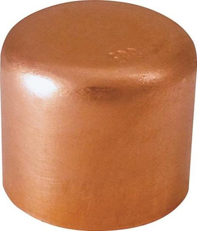 "Copper Fitting, 1-1/4"", CXC, Cap"