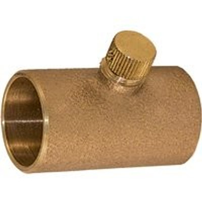 "Copper Fitting, 3/4"", CXC, Coupling, With Drain"