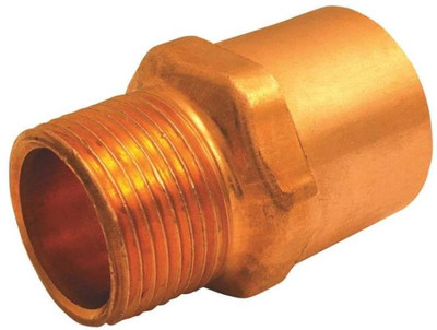"Copper Fitting, 3/4"", CXM, Adapter x 1/2"" MPT"
