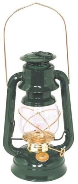 Hurricane Oil Lantern, No.76, Green With Brass Trim