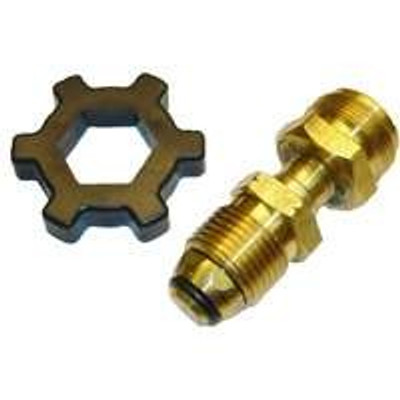 "Propane Cylinder, Adapter POL x 1""-20 Male Tread"