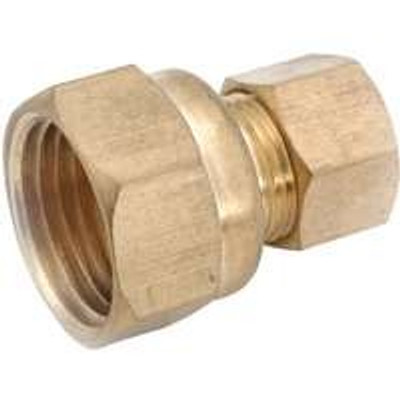 "Compression Fittings, 1/4"", Adapter x 1/4"" FPT, Brass"