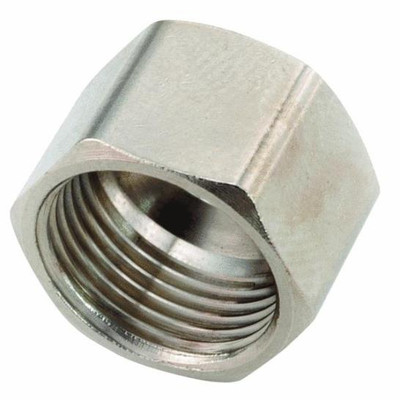 "Compression Fittings, 3/8"", Nut, Chrome Plated Brass"