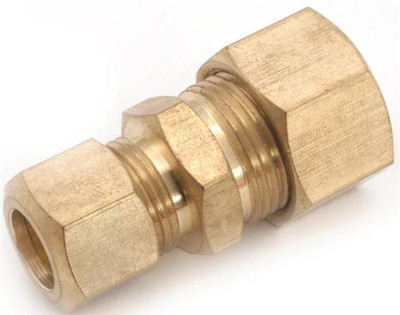 "Compression Fittings, 3/8"", Union x 1/4"", Brass"
