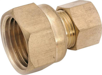 "Compression Fittings, 3/8"", Adapter x 3/8"" FPT, Brass"