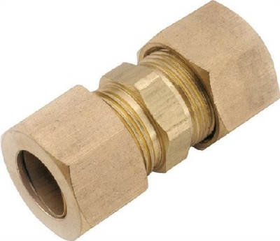 "Compression Fittings, 3/8"", Union, Brass"