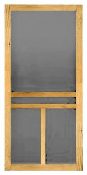 """Wood Screen Door, Clear Pine, Unfinished, 30"""" x 80"""" x 1-1/8"""""""
