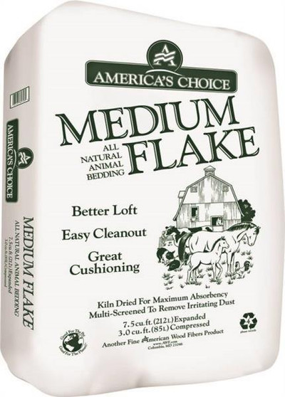 America's Choice, Medium Wood Flake Bedding, 3 CuFt