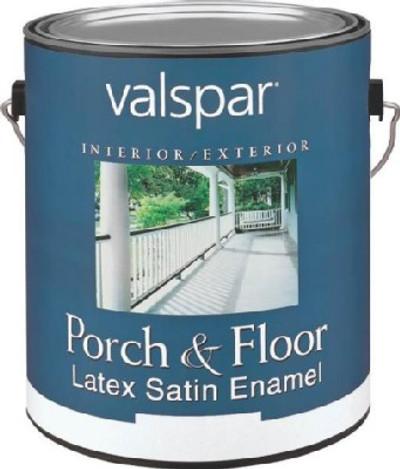 Valspar, 1534 G, Floor & Porch Latex Paint, Dark Gray