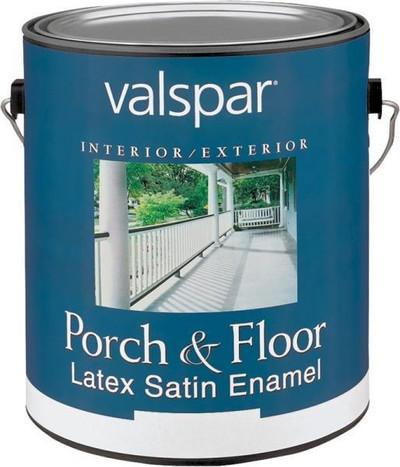 Valspar, 1533 G, Floor & Porch Latex Paint, Light Gray