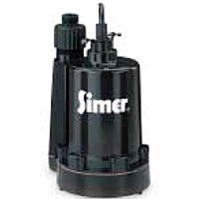Submersible Utility Pump With Garden Hos Connection, 115 VAC