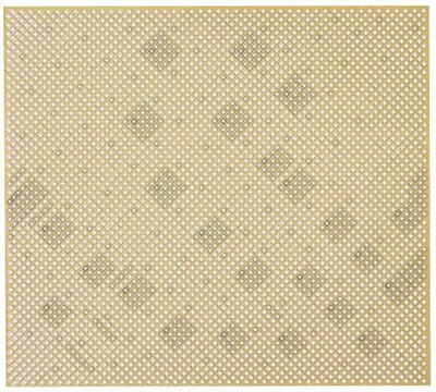 """Aluminum Sheet, 36"""" x 36"""" x .02"""", Cloverleaf Cutout, Brass Anodized"""