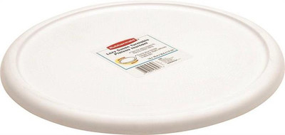 "Lazy Susan, Turntable, 14"", White, Plastic"