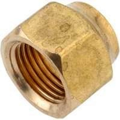 """Flare Fittings, 3/8"""", Nut, Short Forged, Brass"""