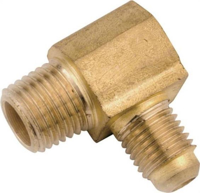 """Flare Fittings, 3/8"""", Elbow x 3/8"""" MPT, Brass"""