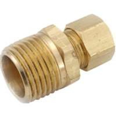 "Compression Fittings, 5/8"", Adapter x 1/2"" MFPT, Brass"