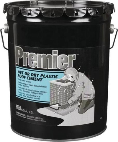 Henry, Wet - Dry Roof Cement, 5 Gallon