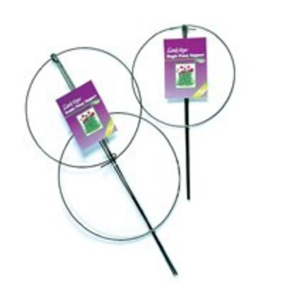"Plant Support, Double Ring, 36"" x 18"", Vinyl Coated Steel"
