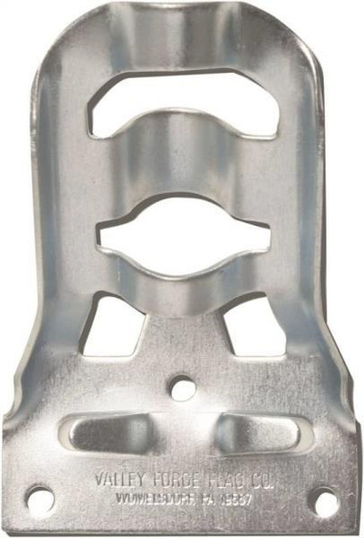 Flag Pole Wall Bracket, Stamped Steel, 3/4""