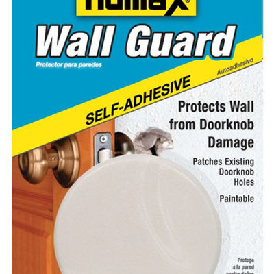 "Wall Guard, White, Peel-N-Stick, 5"" Dia."