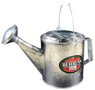 Watering Can, Galvanized, Sprinkling Can, 1-1/2 Gallon