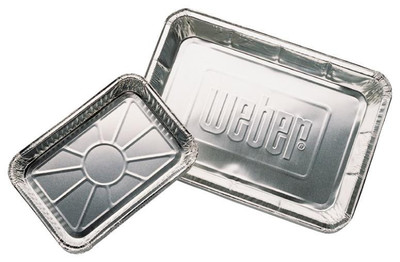 "Weber, Drip Pan, 13"" x 9"", Aluminum, 10 Pack Disposable"