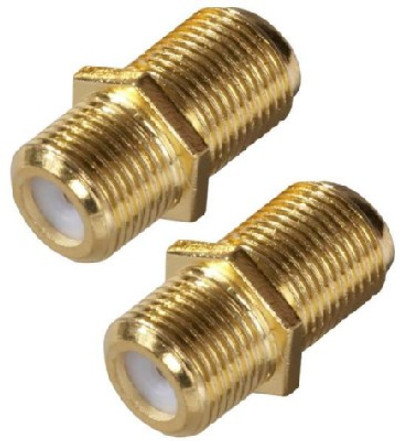 F Coaxial Coupler, Feed-Thru, 2 Pack