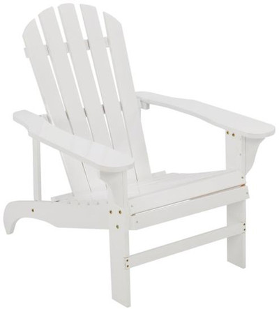 Adirondack Chair, White, Wood