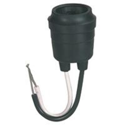 Cooper, Lamp Holder Pigtail Rubber Medium Base, 14 Ga