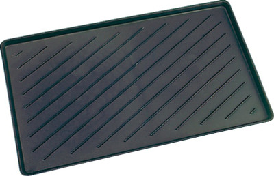 "Boot Tray, Plastic, 14"" x 24"", Black"