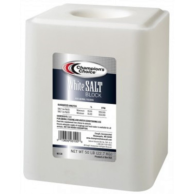 Salt Block, White, 50 lb