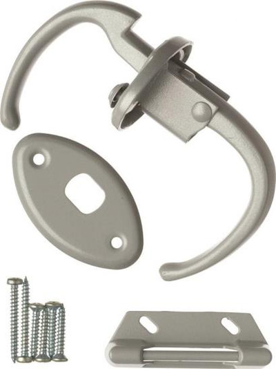 Storm Door, Push-Pull Latch, Aluminum