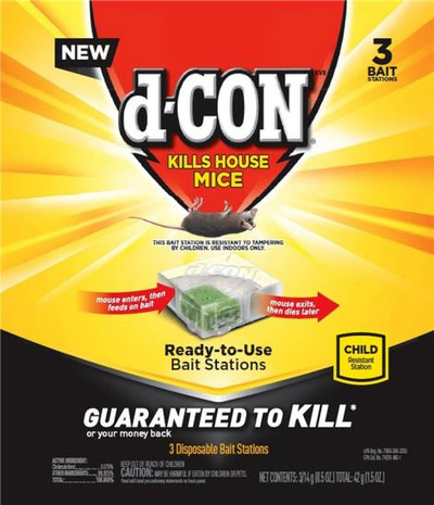 D-Con,  Disposable Ready To Use Mouse Bait Station,  3 Pack